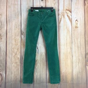 ➡️Gap Always Skinny Green Corduroy Pant Size 00/24